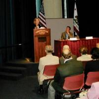CVF President Kim Alexander speaking at the Commonwealth Club, 2004
